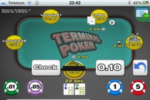 Die Terminal Poker iPhone App - alles Wichtige im Blick
