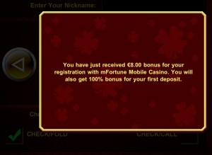 No Deposit Bonus - mfortune Poker App Texas Hold'em
