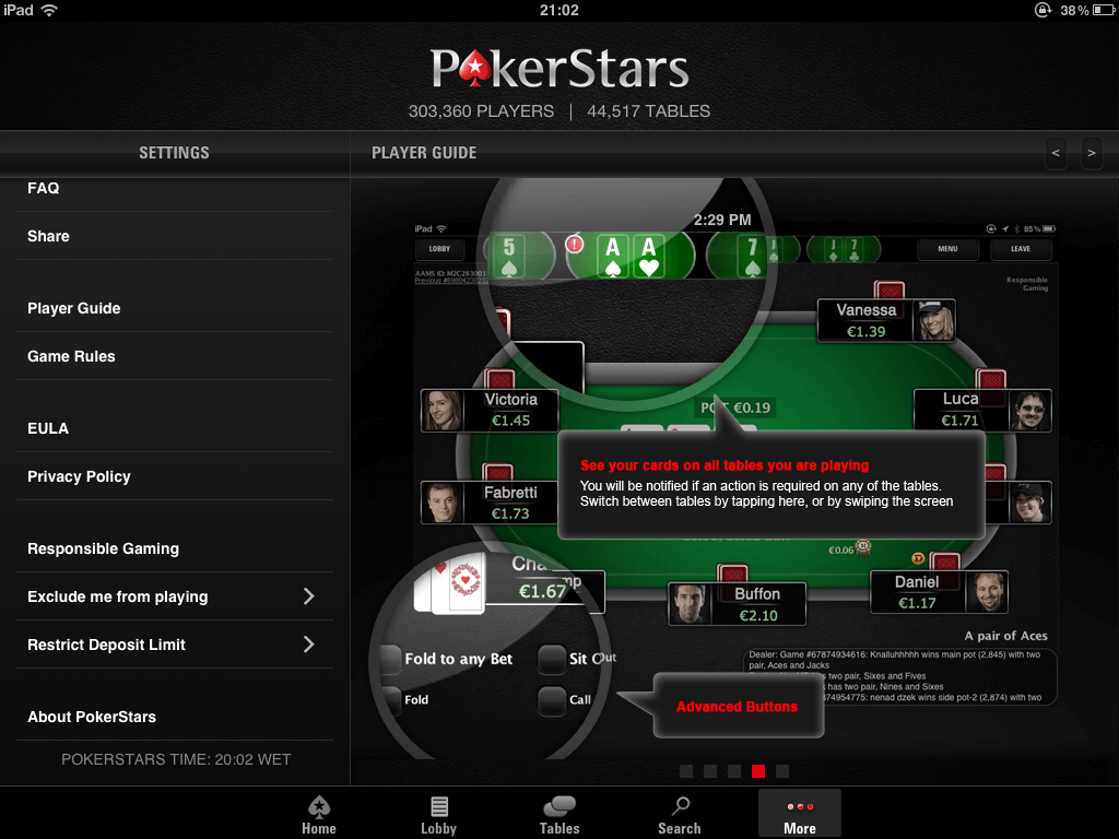 pokerstars app not working