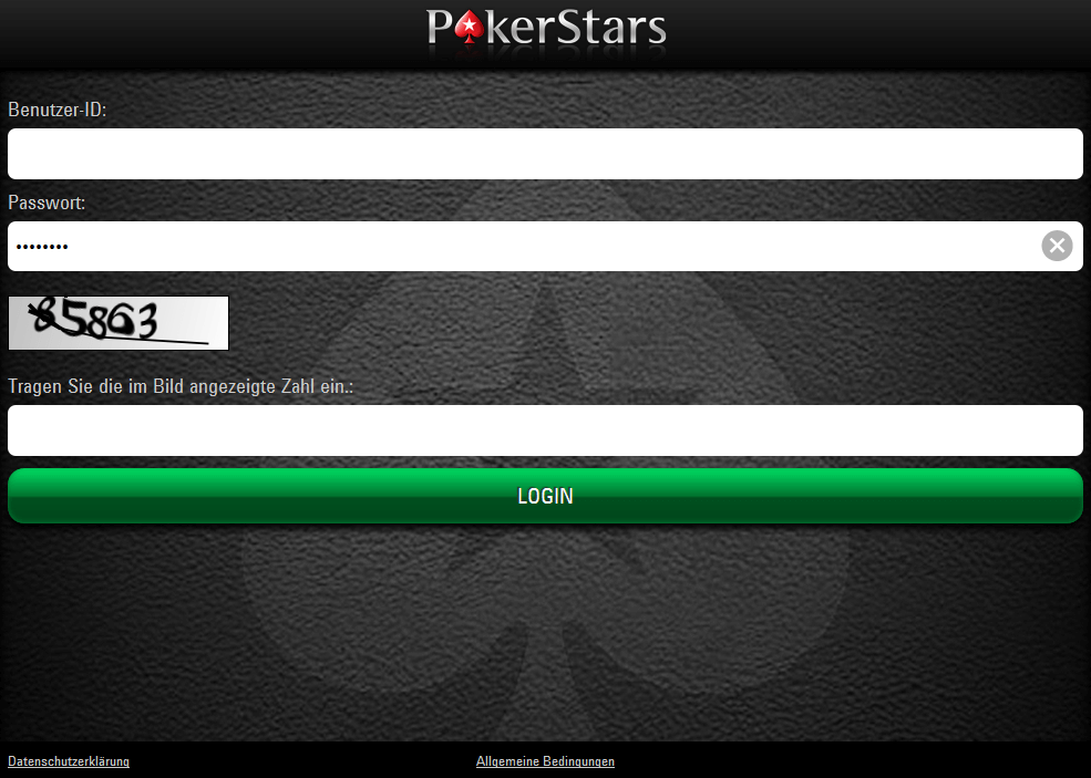 pokerstars net login