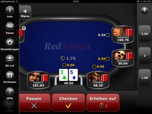 Screenshot der 2013 RedKings iPad App