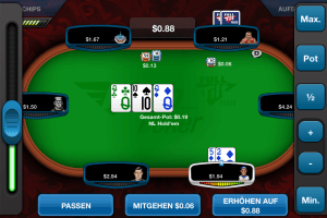 A Screenshot of the new Full Tilt Rush Poker App