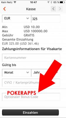 Party Poker Bonus Code POKERAPPS