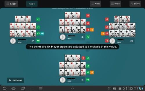 OFCP Screenshot aus der Tonybet Poker App