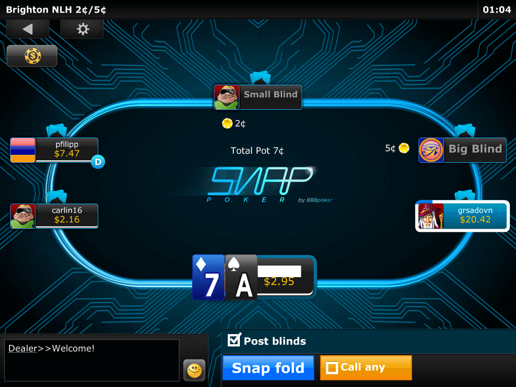 Snap Poker Table view ipad