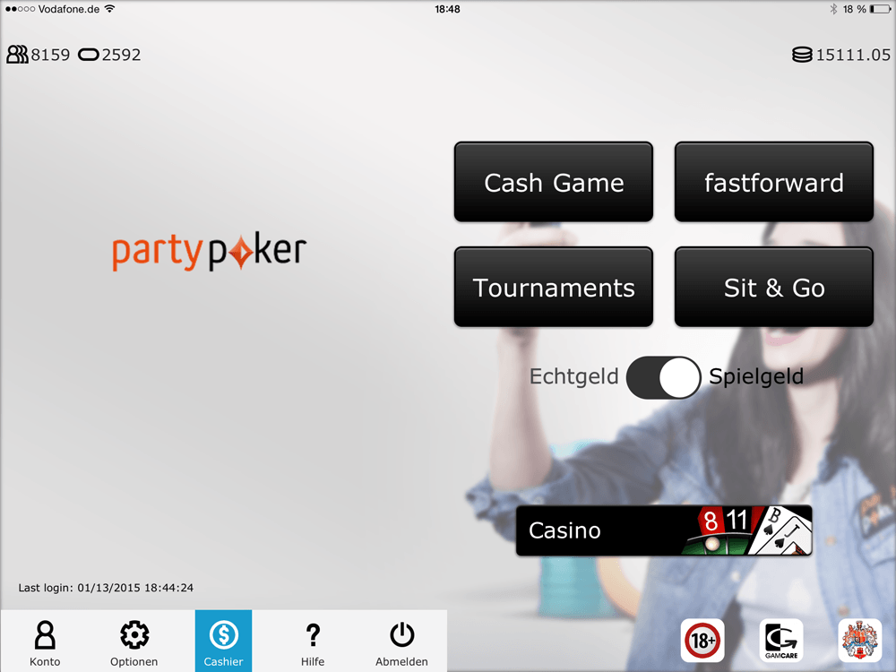 party poker app turniere