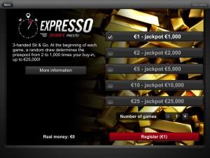 Winamax Expresso mobile
