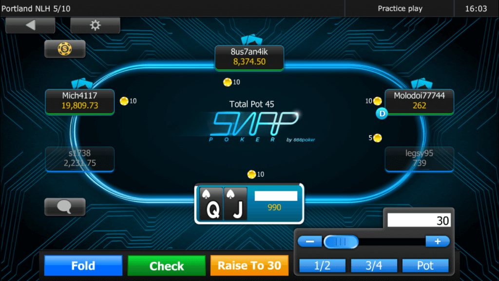 888 poker app screenshot
