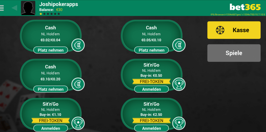 bet365 mobile poker