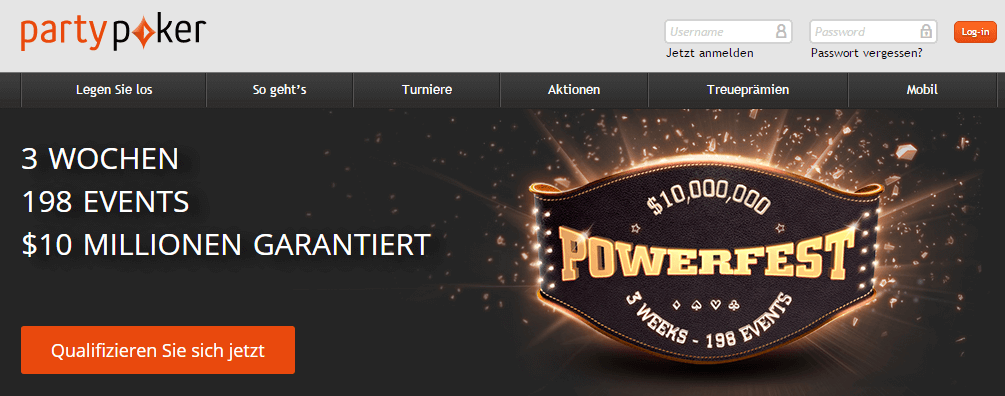 Party Poker Powerfest September 2016