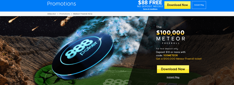 888poker meteor freeroll