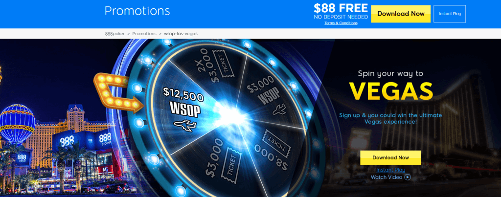 888poker spin your way to vegas