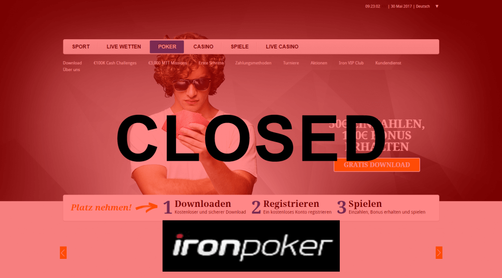Iron Poker Closed