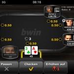 Die bwin Poker App. Läuft auf iPad, iPhone und Android