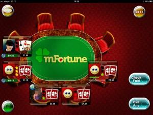 die mfortune texas holdem poker app auf dem ipad