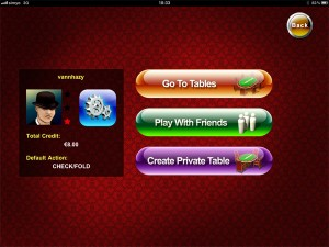 create private table - die mfortune poker app