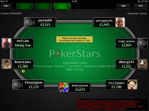 Die PokerStars Mobile Poker App auf dem iPad