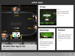 Ein Screenshot der Poker Apps Edition für Google Currents