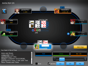 a screenshot of the 888poker mobile HD App for iPad