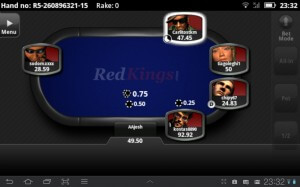 Screenshot of the Red Kings Android Poker App