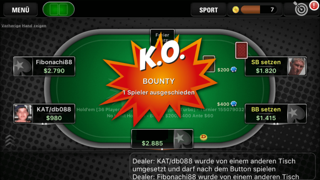 PokerStars KO Poker