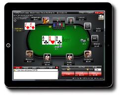 Ein Screenshot von WinPoker aus dem iPoker Netzwerk auf dem iPad