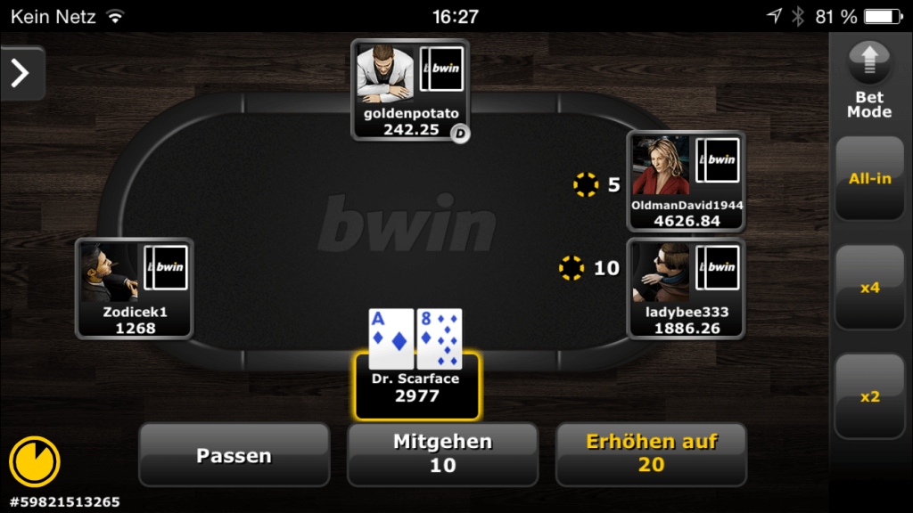 bwin poker app iphone