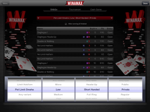 Screenshot Windows Phone Poker App Real Money