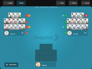 Tonybet Poker Bonus - Screenshot der App