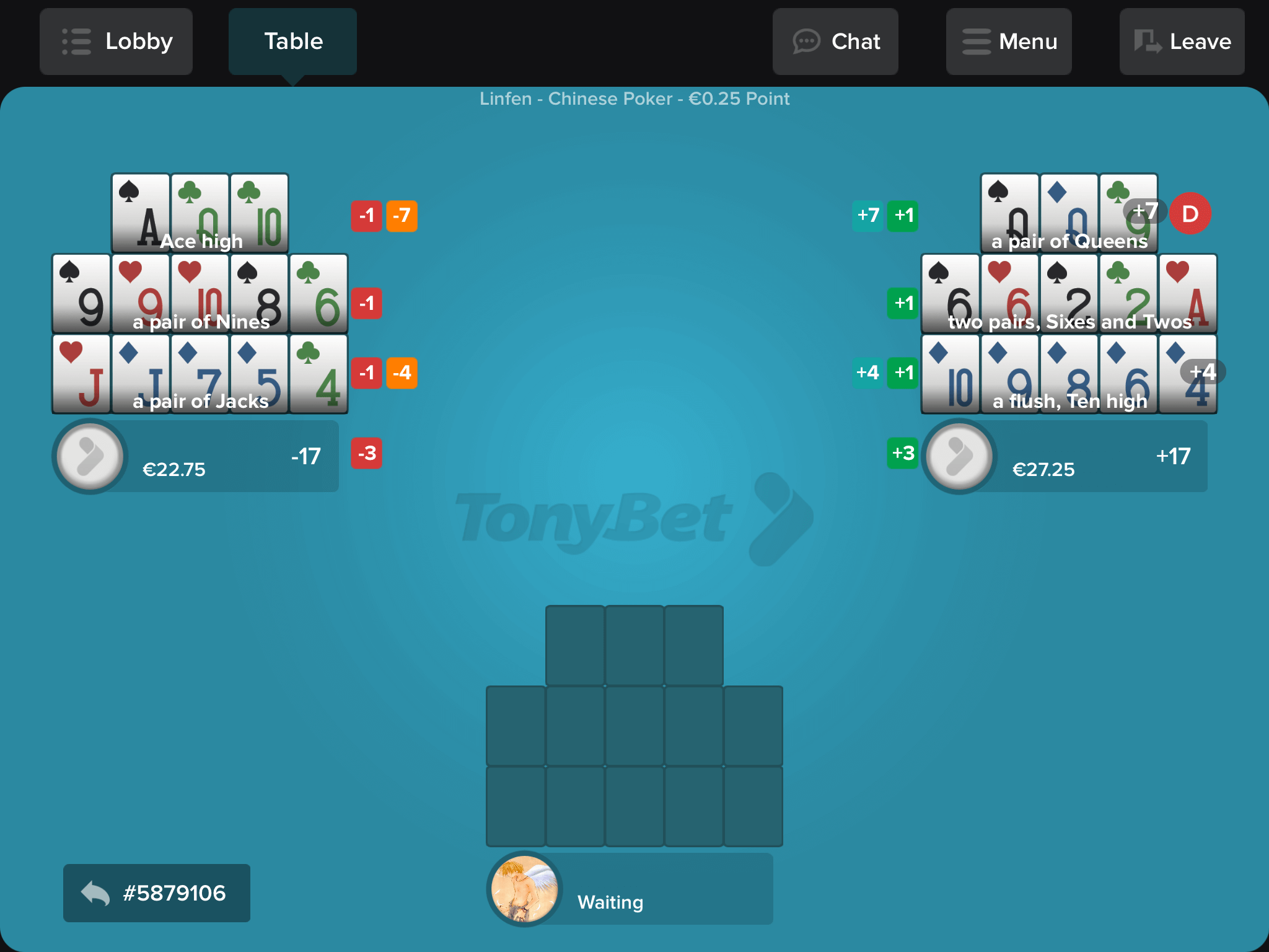 Tonybet OFCP App Screenshot