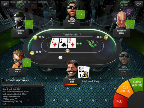 Interface Screenshot - Unibet Poker App für iPad