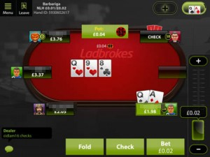 Ladbrokes Poker App Test Screenshot iPad