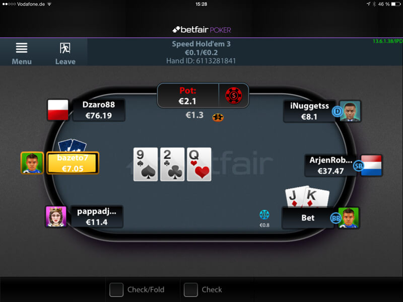 poker mobile betfair