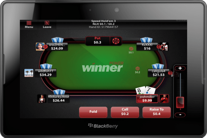 Winner Poker App Blackberry