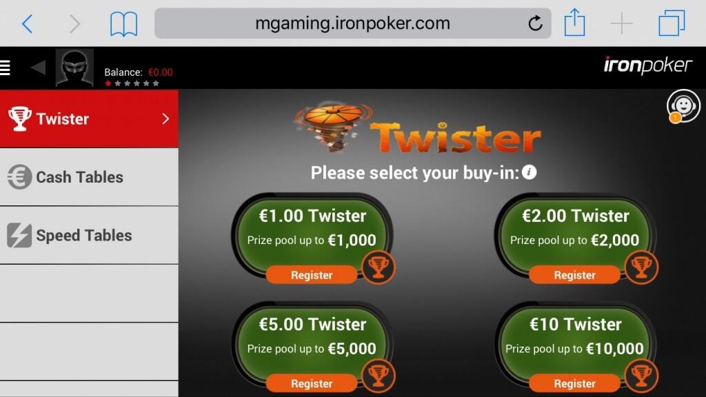 Iron Poker Lobby