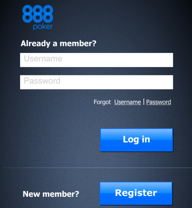 888 poker app registration