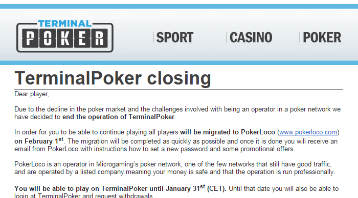 Screenshot TerminalPoker closing