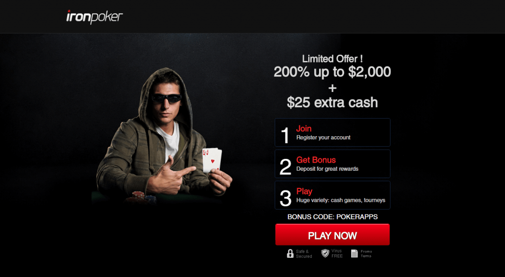 Iron Poker Bonus 25$ extra