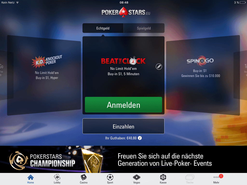 PokerStars Beat the Clock