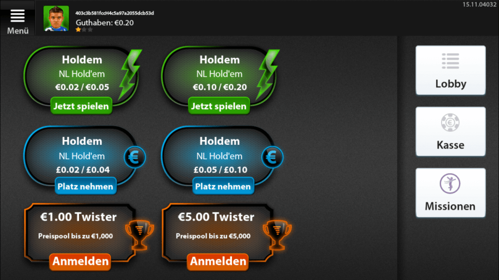 Betfair Poker Android